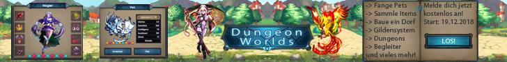 Spiele jetzt das kostenlose Browsergame Dungeon-Worlds!